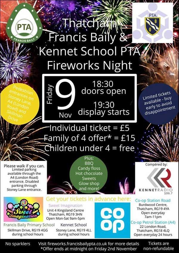 Thatcham Firework Display 2018